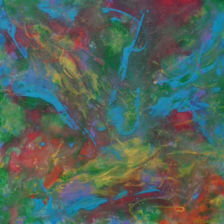 finders keepers abstract painting multi-coloured art image picture