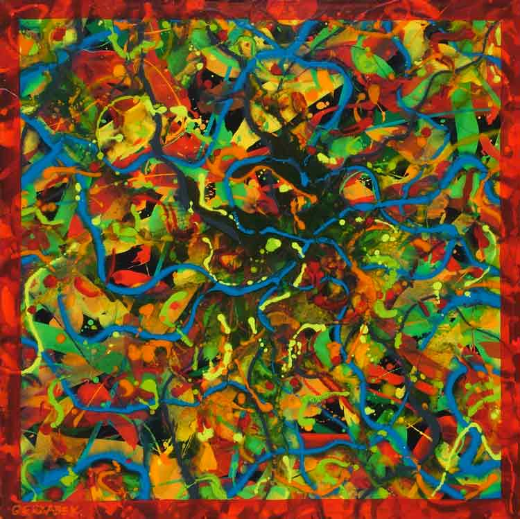 energized colourful abstract painting patterns painted