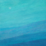 blue sescape painting minimalistic sea view