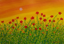 contemporary original flowers painting