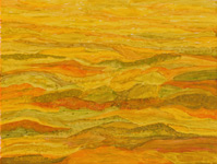 undulating landscape semi-abstract painting Australian