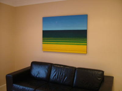 original painting in living room