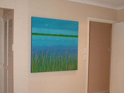 original painting in bedroom
